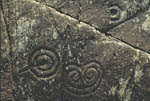 Achnabreck prehistoric rock carvings (spiral)