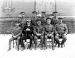 Group of Officers, Fort Charlotte, Lerwick, c.1915