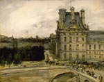 'Corner of the Louvre', by Antoine Vollon