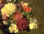 'A mixed bunch', by Fantin-Latour, 1872 (detail)