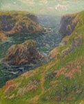 'Cliffs at Port Domois, Belle Ile, South Brittany', by Henry Moret