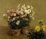 'Chrysanthemes', by Henri Fantin-Latour, 1874