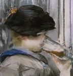 'Au Cafe', by Edouard Manet (detail)