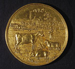 Agricultural medal, awarded for cheese making, 1872
