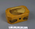 Sycamore box, made in Mauchline, Ayrshire, as a souvenir of North Berwick, 1880 and 1900