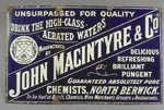 Advertising sign for chemist shop of John MacIntyre & Co, North Berwick
