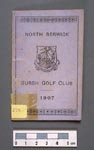 Booklet for North Berwick Burgh Golf Club, listing rules of golf, 1907