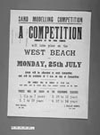 Advertising poster for Sand Modelling Competition, North Berwick, 1955