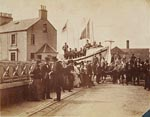 Lifeboat-parade in North Berwick 1897