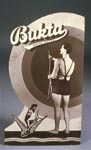 Advertising stand of man in swimming costume c.1930