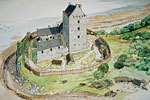 Cardoness Castle (Reconstruction drawing)