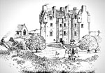 MacLellan's Castle (Reconstruction drawing)