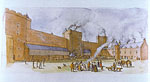 Tantallon Castle (reconstruction drawing)