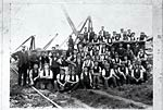 Quarry workers, probably at Corsehill Quarry near Annan