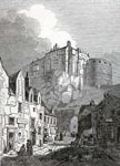 View of Edinburgh Castle from the Grassmarket