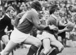 Andy Irvine, rugby union full-back playing for the British Lions against New Zealand in 1977