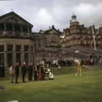 American golfer Doug Sanders teeing off at St Andrews