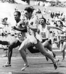 Allan Wells running the 100m race in the 1980 Olympic Games