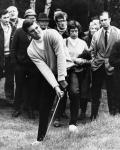 Bernard Gallacher golfing in the Daks Tournament, Wentworth, 1969
