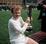 Billy Bremner of Leeds United with the 1971 UEFA cup