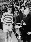 Billy McNeill of Celtic receives the 1967 European Cup trophy