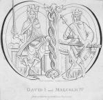 King David I of Scotland with his successor, Malcolm IV