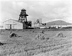 Bilston Glen Colliery near Loanhead, during construction 1956, Midlothian