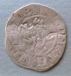 Coin, continental imitation of penny of Edward I of England, found Cromarty