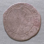 Coin, 2 shilling piece of Charles I, found Cromarty