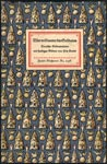 Binding of coloured patterned paper on boards of German illustrated book