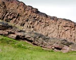 View of Hutton's Section, Salisbury Crags, Holyrood Park, Edinburgh, Midlothian