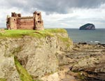 View of Bass Rock from Tantallon Castle, East Lothian