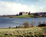 View of Linlithgow Palace and Loch, West Lothian