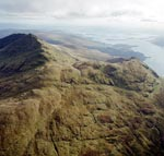 Ben Lomond (left) and Ptarmigan (middle right) ridge: Oblique aerial photograph south-south-east of