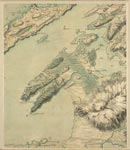 Roy Map 13/1e: Area around North Lismore and the Entrance to Loch Creran, in Loch Linnhe, Argyllshire