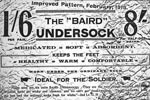 "Advertising information for the improved version of the ""Baird"" Undersock"