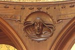 22 Park Circus, Glasgow, carved detail
