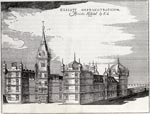 19th century engraving of George Heriot's Hospital/School in Edinburgh