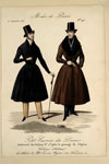 Fashion plate, from Le Petit Courrier des Dames