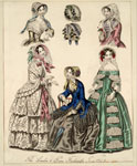 Fashion plate, The London and Paris Fashions for June 1849