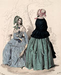 Fashion plate, from Corriere delle Dame