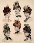 Fashion plate, from Le Magasin des Demoiselles