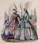 Fashion plate, from The Englishwoman's Domestic Magazine