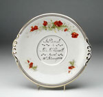 Plate, commemorating a marriage