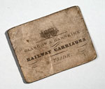 Railway ticket, for Glasgow & Garnkirk railway