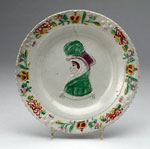 Plate, with bust of Queen Caroline