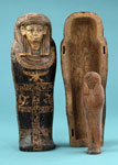 Model coffin & shabti