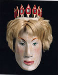Commemorative mask of Princess Diana, made by, and purchased from, Joe David of Nuu-chah-nulth tribe in NW Coast America