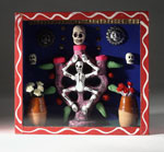 Boxed miniature set with Tree of Life candelabrum, from Mexican Day of the Dead festival