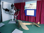 Aeroplane engine & model of Bleriot aeroplane